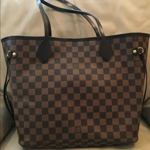 Louis Vuitton neverfull Damier MM pouch included